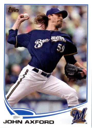 (2013 Topps Baseball #59 John Axford Milwaukee Brewers)