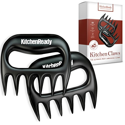 Meat Claws by KitchenReady. Perfect Shredder for Pulled Pork, Beef Brisket, Chicken, Turkey