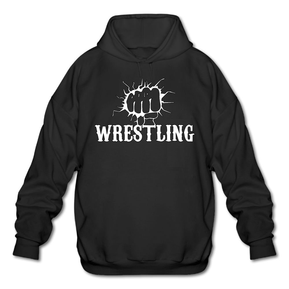 Funny Fist Wrestling Mens Cotton Fashion Durable Vintage Warm Fall/Winter Hoodie by LuckyPowerMen