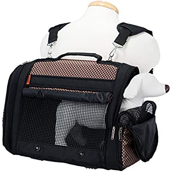 """4b4c9eb763 Prefer Pets  Hideaway Backpack - Pet Travel Carrier - 17""""L x 12""""H x 10""""D -  Airline Approved Travel Carrier - Provides A Safe   Secure Way to Travel -  Helps ..."""
