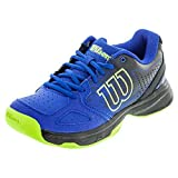 Wilson Kids Unisex Jr Kaos Comp (Little Kid/Big Kid) Blue Iris/Black/Granny Green Sneaker 12 Little Kid M