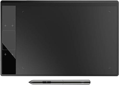 GXLO Pantalla de Dibujo HD Pantalla de 10x6 Pulgadas Stylus sin batería con 8192 Niveles Presión de lápiz Compatible con Windows y Mac,Black: Amazon.es: Deportes y aire libre