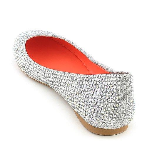 Shiekh Womens Benia-14 Dress Flat Silver 8f3my0E0