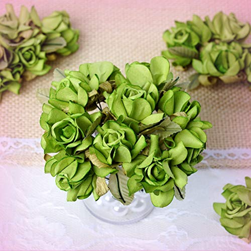 Inna-Wholesale Art Crafts New 60 pcs Sage Green Open 1.25