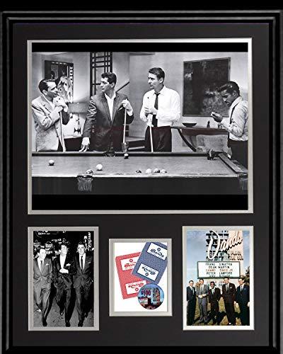 Gatsbe Exchange 16 x 20 Framed Collage The Rat Pack and The Sands Hotel Las Vegas Frank Sinatra Sammy Davis Jr. Dean Martin