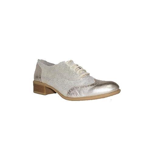DIGO-DIGO MOCASÍN Kenia Metal 5000 Zapatos Mocasines de Mujer Piel Confort Plateado: Amazon.es: Zapatos y complementos