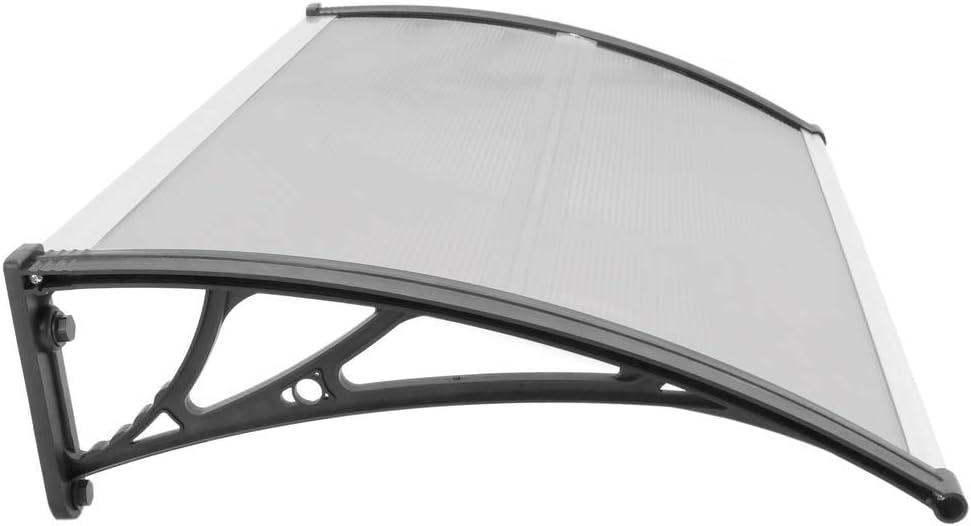 T/ürdach /Überdachung mit schwarzer Auflage PrimeMatik Vordach 120x60 cm dunkelgrau