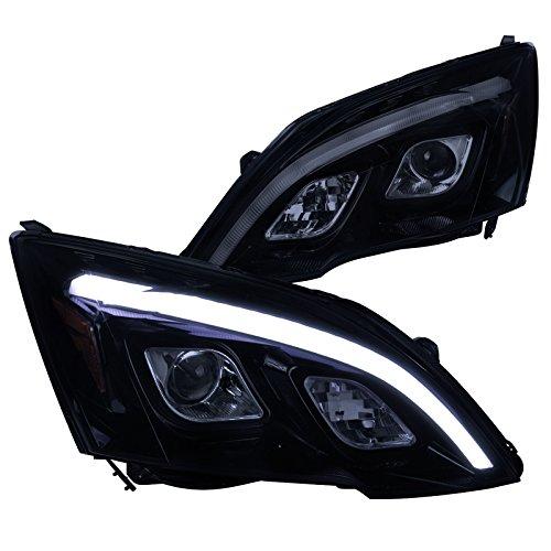 (Spec-D Tuning 2LHP-CRV07G-TM Black Projector Headlight (Glossy) )