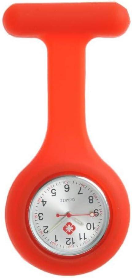 Northerncold Reloj de Bolsillo para Enfermera,Mesa de Enfermera de Silicona, Cuadros de Pared médica para Estudiantes Impermeables,Broche Reloj de Bolsillo Movimiento de Cuarzo