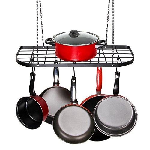 VDOMUS Pot Rack Ceiling Mount Cookware