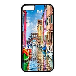 Custom Case Cover For iPhone 6 Plus Black PC Back Phone Case Hard Single Shell Skin For iPhone 6 Plus With Color House 2