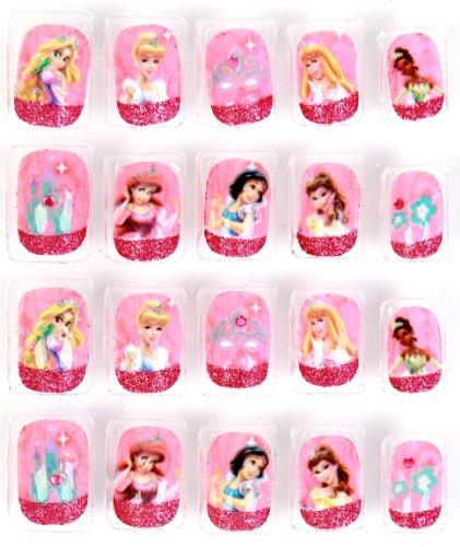 Amazon Disney Princess Nails 20 Pieces Childrens Costume Hairwork Beauty