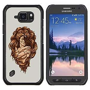 """Be-Star Único Patrón Plástico Duro Fundas Cover Cubre Hard Case Cover Para Samsung Galaxy S6 active / SM-G890 (NOT S6) ( Impresionante Mujer León Hair Style"""" )"""