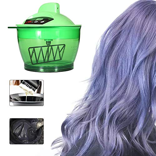 Electric Hair Cream Mixer Coloring Bowl Multifunction Hairdressing Automatic Barber Hair Dyeing Kit Home DIY Tools (Farbe Mischt)