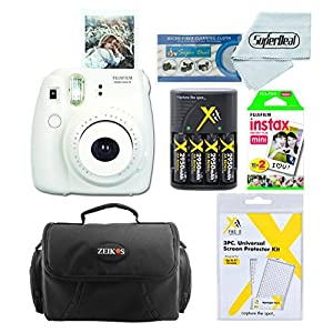 Fujifilm Instax Mini 8 Instant Film Camera With Instax Mini Instant Film Twin Pack (20 Sheets), Compact Bag Case, Batteries and Battery Charger