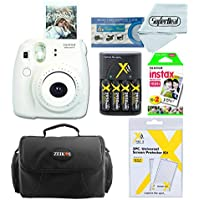 Fujifilm Instax Mini 8 Instant Film Camera + 2-Pk. Instant Film + Camera Case + AA 4-Pk. Batteries and Battery Charger +3 Pc Protector set + Cleaning Cloth