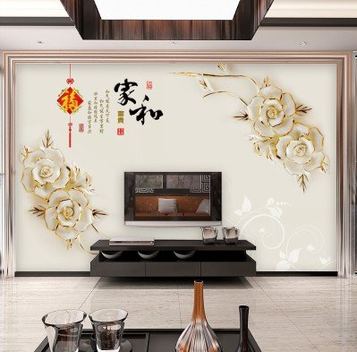 XLi-You 3D TV background wall paper bedroom living room ? large murals