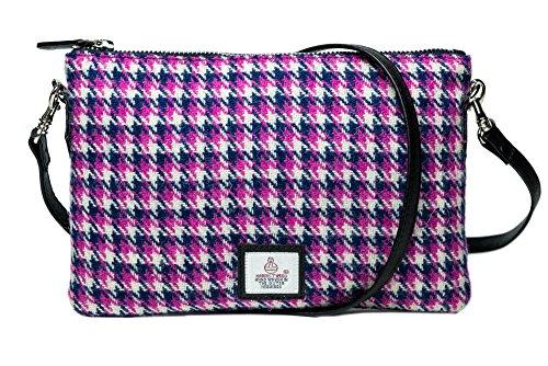Pink Purse Houndstooth Tweed Bag Zip Harris RI7pqP66