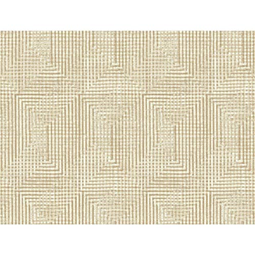 (York Wallcoverings HO3320 Right Angle Weave Wallpaper, Tailored Collection, Beige)