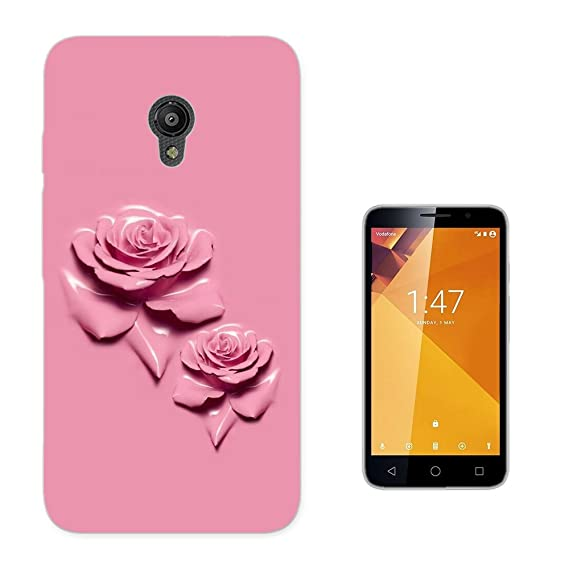 003835 - Roses In Pink Design Vodafone Smart Turbo 7 Fashion Trend CASE Gel Rubber Silicone