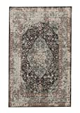 Mohawk Home Prismatic Bellepoint Gray Floral Distressed Precision Printed Area Rug, 5'x8′, Gray