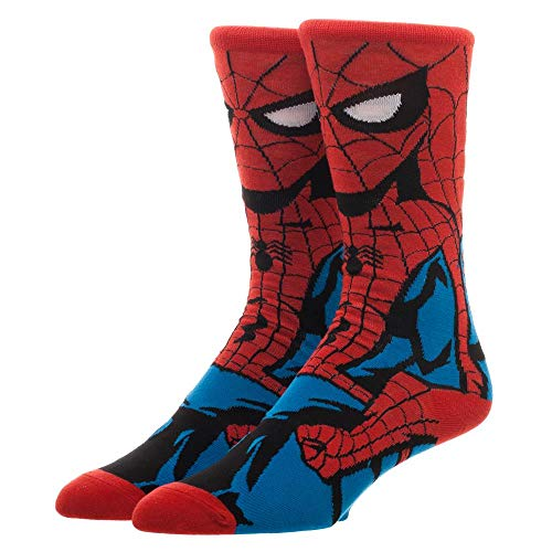 Spiderman Crew Socks Marvel Spiderman Socks - Spiderman