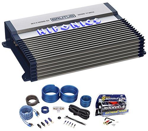 (Hifonics BXX1200.1D 1200 Watt RMS Mono Car Amplifier Class D+Amp Kit+Capacitor)