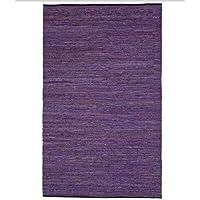 Matador Leather Chindi Rug, 4 by 6-Feet, Purple