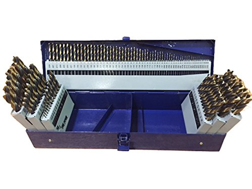 - Drill America 115 Piece Heavy Duty High Speed Steel Drill Bit Set with Black and Gold Finish (1/16