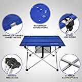 ANCHEER Lightweight Folding Portable Camping Table, Small...