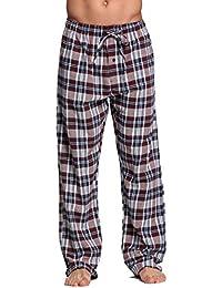 cyz de los hombres algodón 100% super suave franela Tartán Pajama Pants