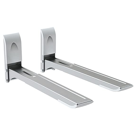 Maclean Brackets MC-607 - Soporte de pared para microondas (hasta 35kg, 29-42cm), Color plateado: Amazon.es: Hogar