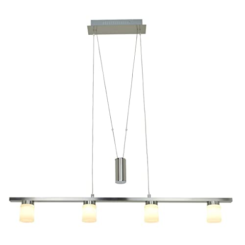 FOSHAN MINGZE Dimmable Led Ceiling Light Modern With Ajustable Cable,Satin  Nickel Finished Hanging Glass