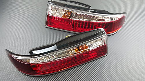 P2M NISSAN 1995-96 S14 240SX 3PCS CRYSTAL REAR TAIL LIGHT KIT LED P2-NS14RTL02C-JY