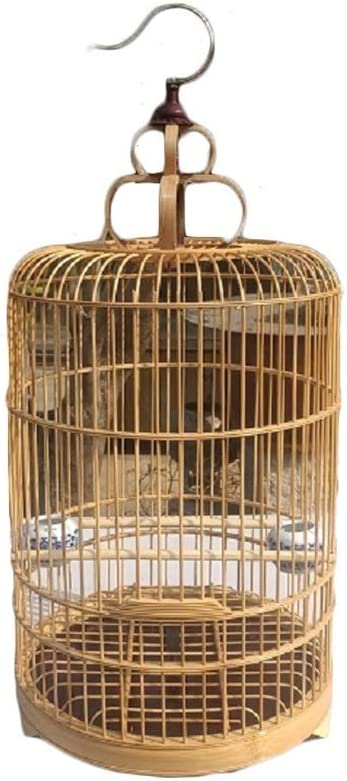 Jaula de pájaros Chino Tradicional Arte de Tejido de bambú Casa de Loros por Periquito Pájaros del Amor Mejilla Verde Canario Perico Cacatúa Nidos para pájaros