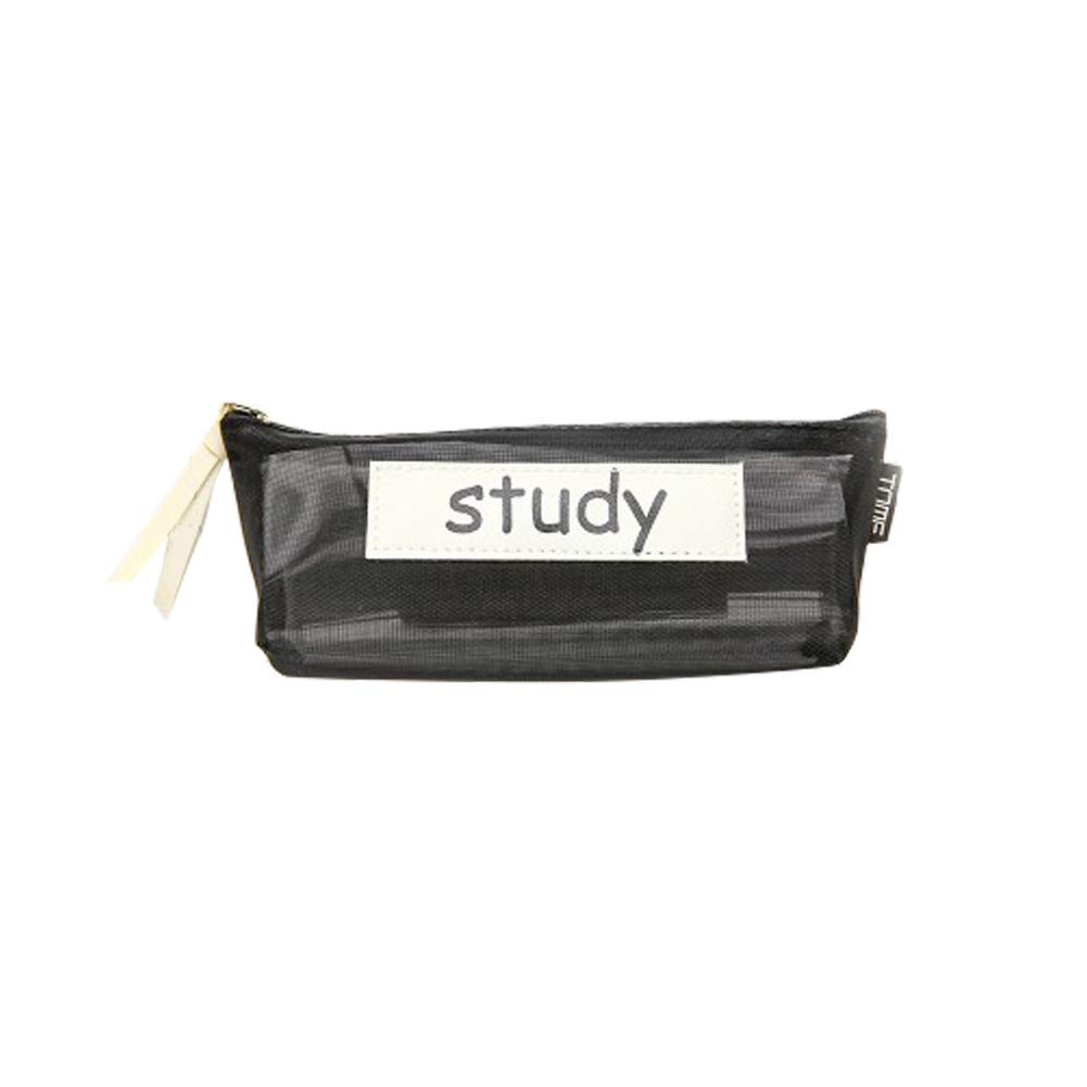 Yevison Premium Quality Transparent Grid Pencil Case Portable Pencil Case Stationery Creative Pencil Bag Primary and Secondary School Pencil Case