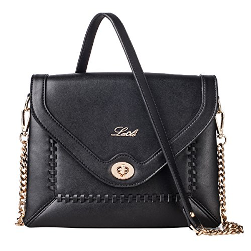 La Cle LA-052 Braided Crossbody Shoulder Leather Bag - Shopping Cambridge Mall