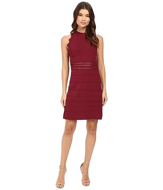 fd55e573e Ted Baker Women s Natleah Scallop Detailed Dress Oxblood Dress ...
