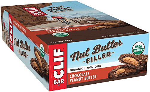 CLIF Nut Butter Filled - Organic Energy Bar - Chocolate Peanut Butter - 1.76 Ounce Protein Snack Bar, 12 Count