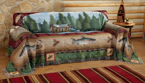 Lake Cabin Sofa Cover by Black Forest Decor