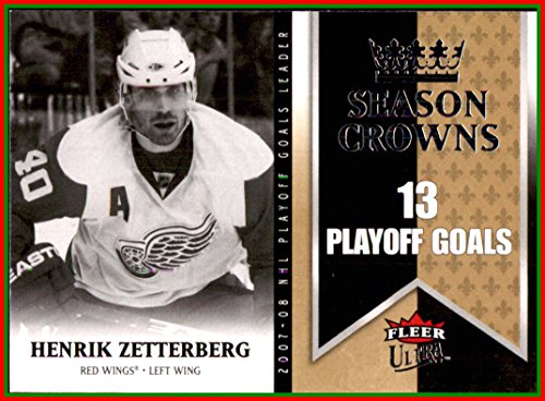 (2008-09 Ultra Season Crowns #SC10 Henrik Zetterberg DETROIT RED WINGS)