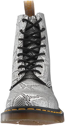 Silver Vegan Snake Martens Fashion Metallic Dr Pascal Metallic Boot Women's A0q4E