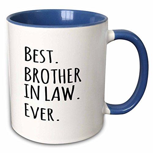 3dRose 151481_6 Best Brother in Law Ever Mug, 11 oz, Black