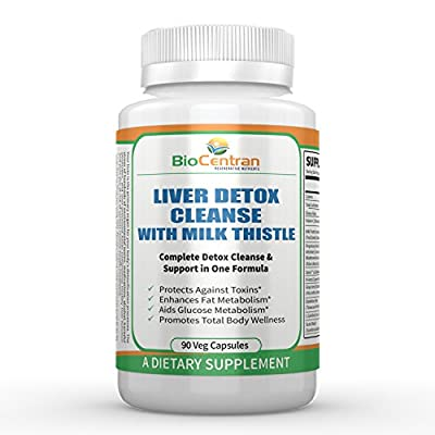 BioCentran Liver Detox Cleanse with Milk Thistle Extract - 90 Capsules