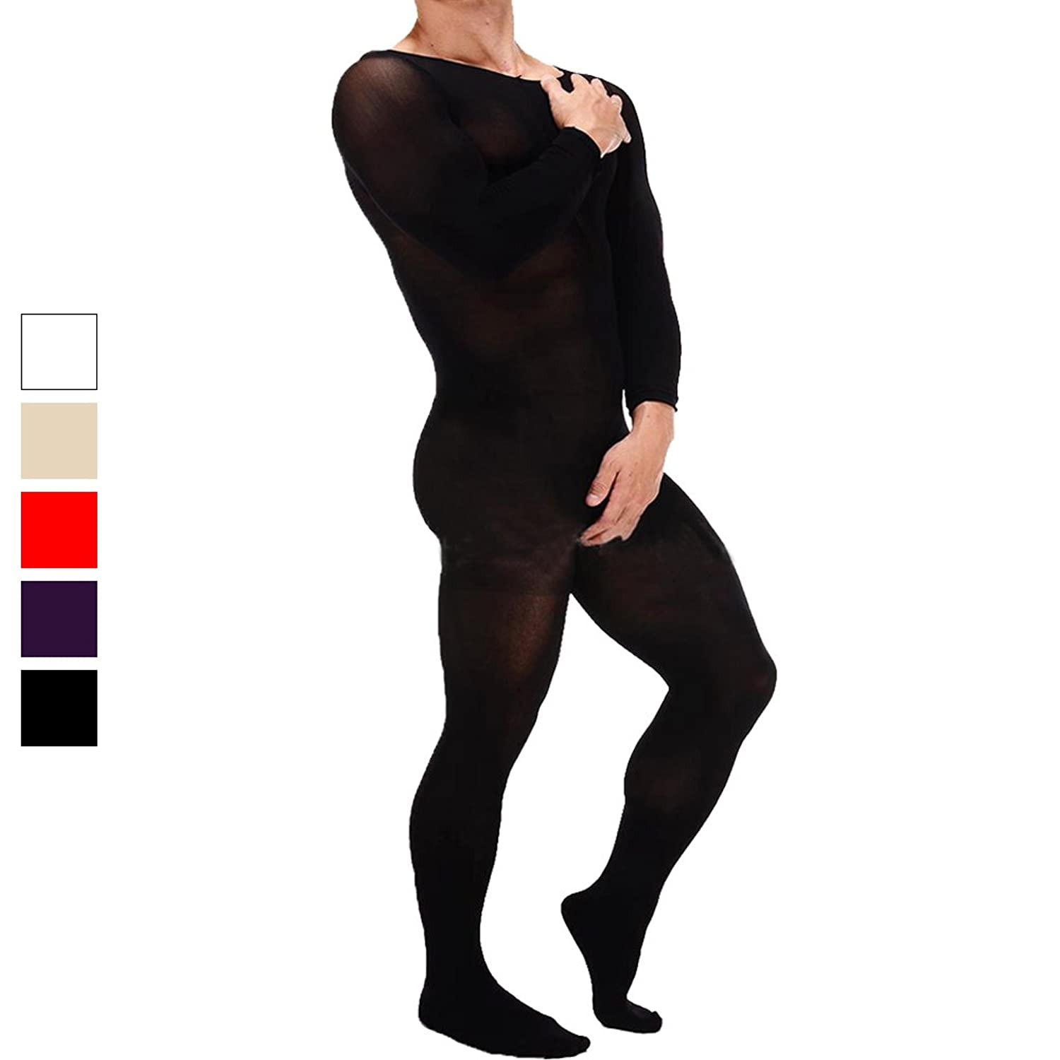 3507f5cc36b Keep the fun going until well after midnight with this sexy bodystocking  featuring long sleeves