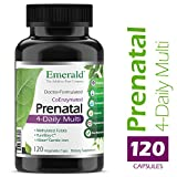 "Prenatal 4-Daily Multi – Multivitamin with Coenzyme Folic Acid Plus ""Gentle"" Iron – Support for Pregnant & Lactating Women – Emerald Laboratories – 120 Vegetable Capsules"