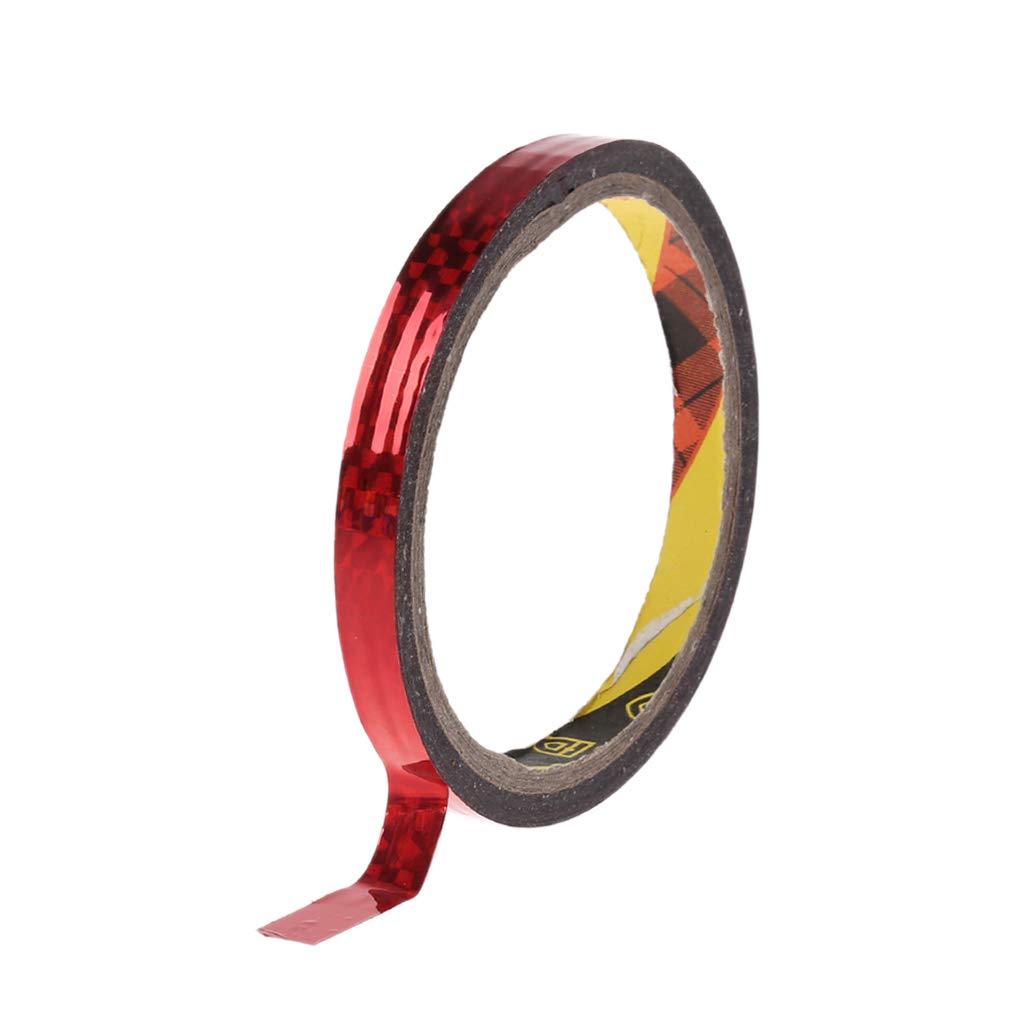 JERKKY Rythmique Gymnastique D/écoration Holographique Prismatique Glitter Bande Cerceaux B/âton Sport Accessoire Rouge 10mmx30m