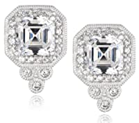 Sterling Silver Swarovski Zirconia Asher Antique Earrings by Elite Group International NY Inc.- ACC