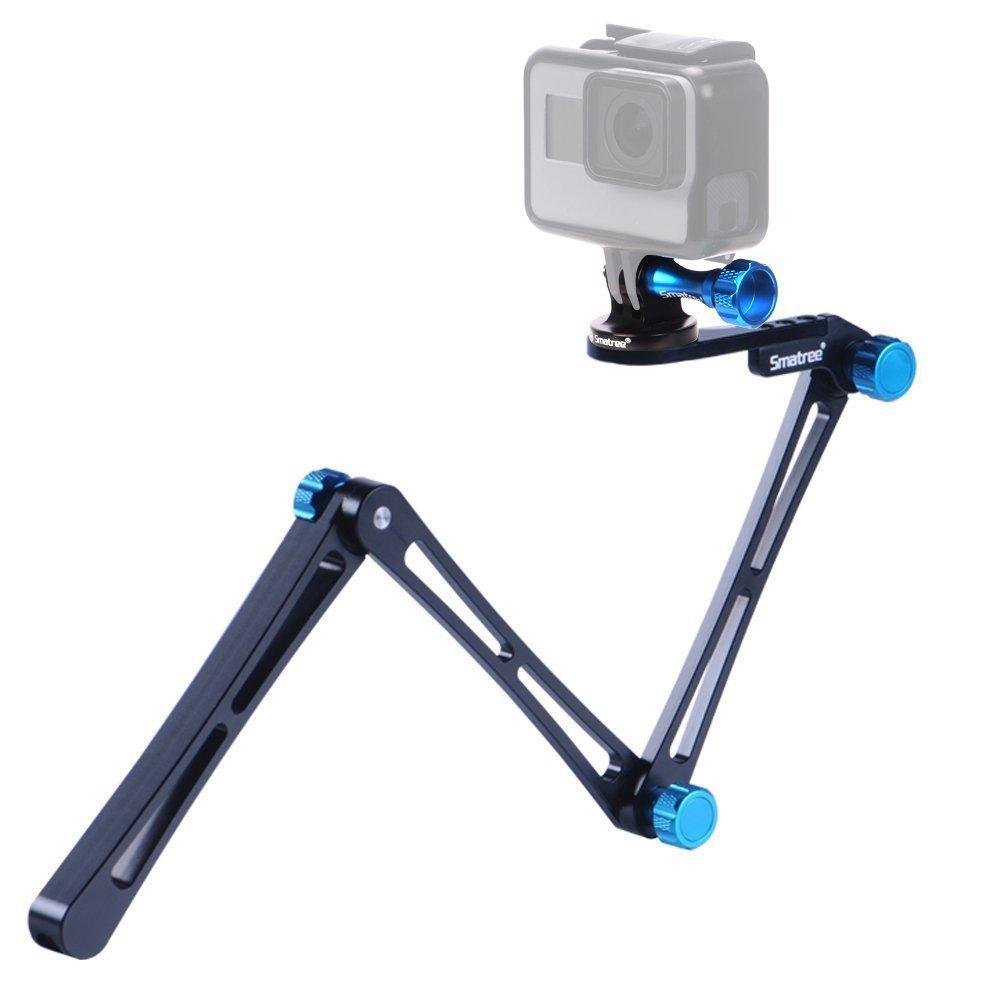 Smatree X1 Aluminium Foldable Multi-functional Pole/Monopod 3-Way Ajustable Selfie Stick for GoPro Hero Fusion/6/5/4/3+/3/Session/GOPRO HERO (2018),Logitech Webcam C925e C922x C922 C930e,Action Camera