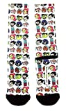DC Comics Teen Titans Go! Cartoon Faces Sublimated Crew Socks